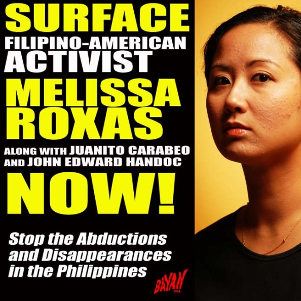 Surface & Release Filipina American Activist Melissa Roxas and Others!