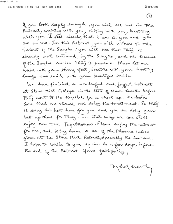 Thay's Letter to the Sangha 2